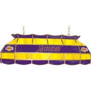 "Trademark Global® 40"" Tiffany Lamp, Los Angeles Lakers NBA"