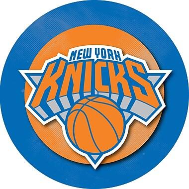 Trademark Global® Wood and Glass Billiard Cue Rack With Mirror, New York Knicks NBA