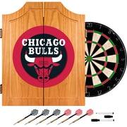 Trademark Global® Solid Pine Dart Cabinet Set, Chicago Bulls NBA