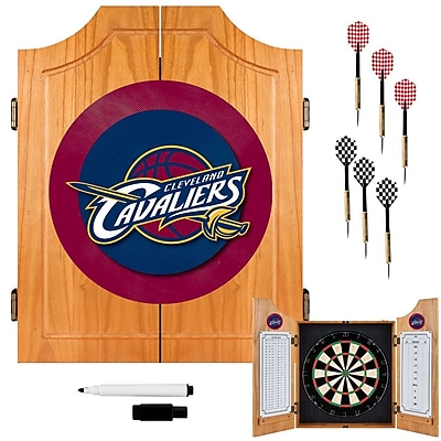 Trademark Global® Solid Pine Dart Cabinet Set, Cleveland Cavaliers NBA