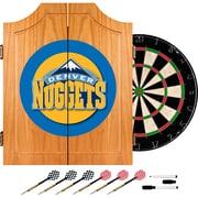 Trademark Global® Solid Pine Dart Cabinet Set, Denver Nuggets NBA