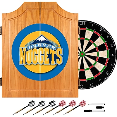 Trademark Global® Solid Pine Dart Cabinet Set, Denver Nuggets NBA