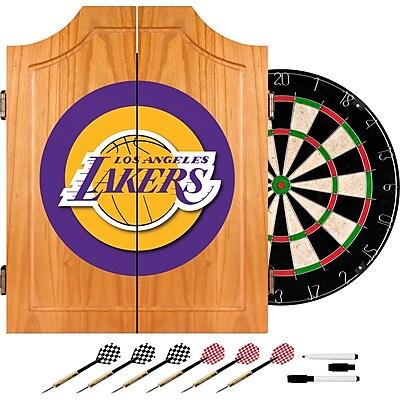 Trademark Global® Solid Pine Dart Cabinet Set, Los Angeles Lakers NBA