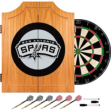 Trademark Global® Solid Pine Dart Cabinet Set, San Antonio Spurs NBA