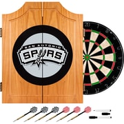 Trademark Global® Solid Pine Dart Cabinet Set, San Antonio Spurs NBA