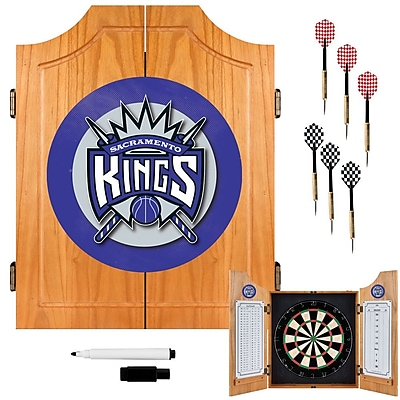 Trademark Global® Solid Pine Dart Cabinet Set, Sacramento Kings NBA
