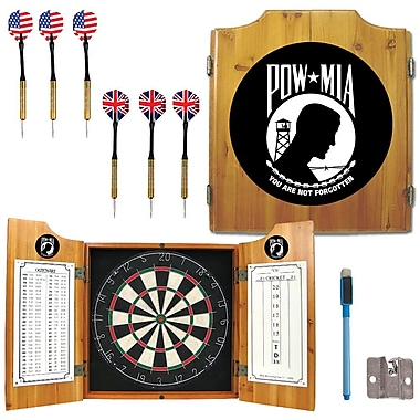 Trademark Global® Solid Pine Dart Cabinet Set, POW