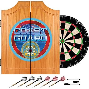 Trademark Global® Solid Pine Dart Cabinet Set, US Coast Guard