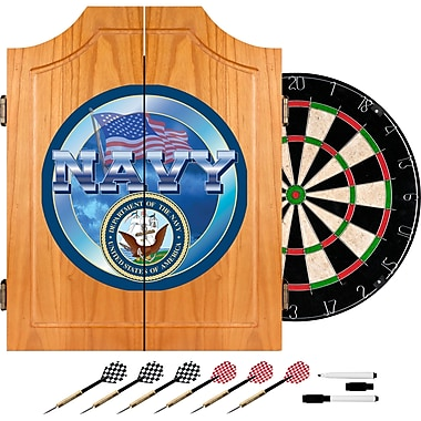 Trademark Global® Solid Pine Dart Cabinet Set, US Navy