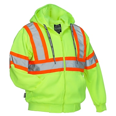 Forcefield Deluxe Safety Hoodie, Lime, Medium
