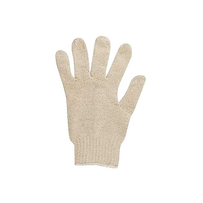 Ansell® MultiKnit 76-610 Cotton/Poly Lining Heavyweight Knit Gloves, Off-White, Large