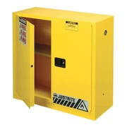 Justrite 30 gal Sure-Grip EX Standard Safety Cabinet, Yellow