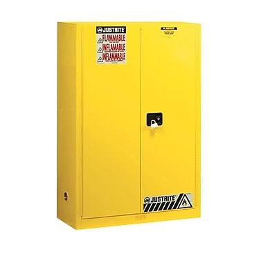 Justrite 45 gal Sure-Grip EX Standard Safety Cabinet, Yellow