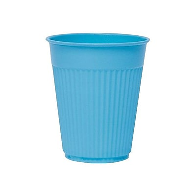 SOLO Cup Company Plastic Medical & Dental Cups, Fluted, 5 Oz, Blue, 100/bag, 25 Bags/carton 318404