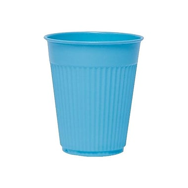 Solo® Fluted Plastic Medical and Dental Cup, Blue, 5 oz., 2500/Pack