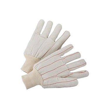 Anchor Brand 1000 Series Canvas Knit Gloves, White/Red, Large