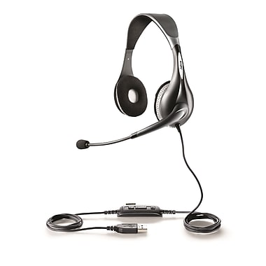 JabraMD – Casque d'écoute MS Duo 150 d'UC VoiceMC avec fil, optimisé pour Lync
