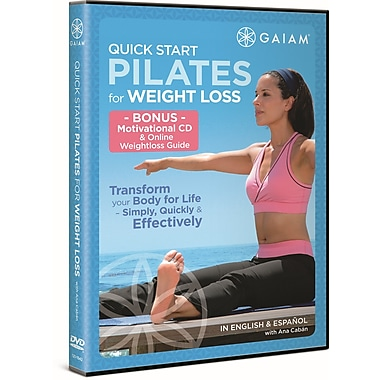 Gaiam 2PC Quick Start Pilates for Weight Loss with Ana Caban (DVD)