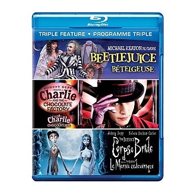 Beetlejuice/Charlie and the Chocolate Factory/Tim Burton's Corpse Bride (Blu-Ray)