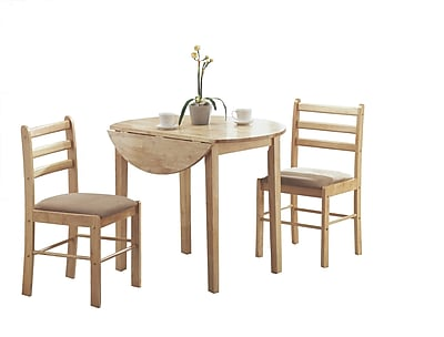 Monarch 3 Piece Padded Dining Set With a 36