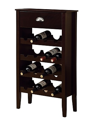 Monarch Wine Rack For 16 Bottles, Cappuccino