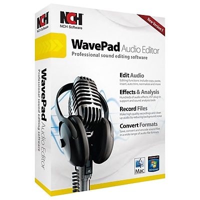 NCH Software® RET-WP005 WavePad Audio Editing Software