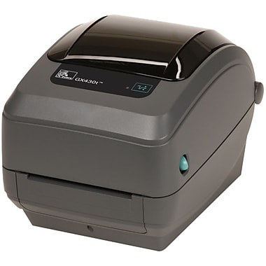 Zebra Gx430T Thermal Transfer Printer, Monochrome, Desktop, Label Print (GX43-102410-000)
