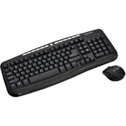 Gear Head KB5195W 2.4 GHz USB Wireless Desktop with Optical Mouse, Black