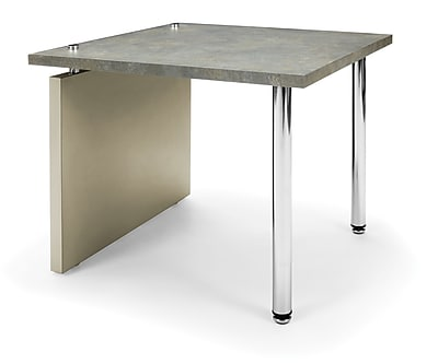 OFM™ Profile Series Laminated End Table With Steel Tube Legs, Painted Screen/Gray Leg Panel