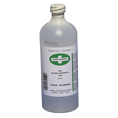 Rubbing Alcohol (99%), 500 ml, 2/Pack