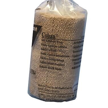 Coban – Bandage cohésif autoadhésif, 4 po x 5 verges, 2/paquet