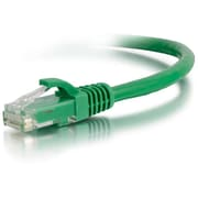 C2G® 03991 6' CAT6 RJ-45/RJ-45 Male Snagless Network Patch Cable, Green