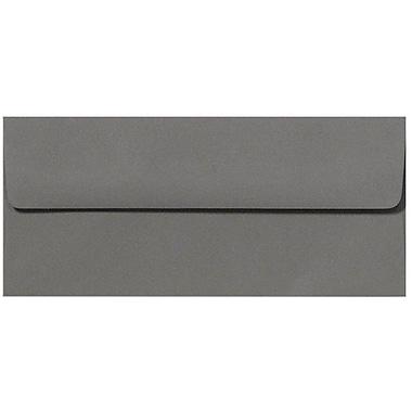 LUX Peel & Press #10 Square Flap Envelopes (4 1/8 x 9 1/2) 500/Box, Smoke Gray (EX4860-22-500)