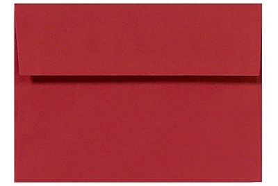 LUX A10 Invitation Envelopes (6 x 9 1/2) 1000/Box, Holiday Red (67153-1000)