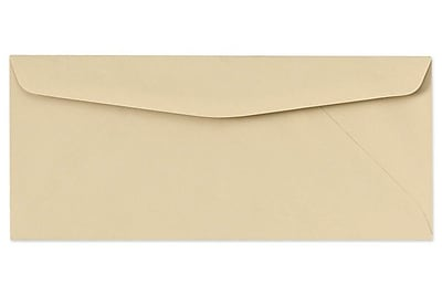 "LUX® 60lbs. 4 1/8"" x 9 1/2"" #10 Pastels Regular Envelopes, Tan, 1000/BX"