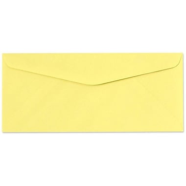 LUX Moistenable Glue #10 Regular Envelopes (4 1/8 x 9 1/2) 1000/Box, Pastel Canary (65912-1000)