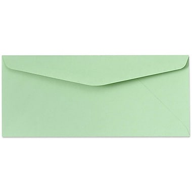 LUX Moistenable Glue #10 Regular Envelopes (4 1/8 x 9 1/2) 500/Box, Pastel Green (65896-500)