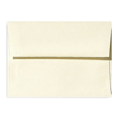 LUX A1 Invitation Envelopes (3 5/8 x 5 1/8) 500/Box, Natural Linen (4865-NLI-500)