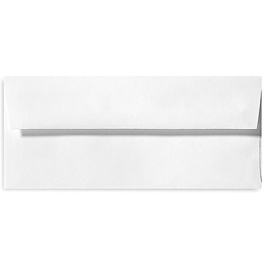 LUX #10 Square Flap Envelopes (4 1/8 x 9 1/2) 500/Box, Bright White - 100% Cotton (4860-SW-500)