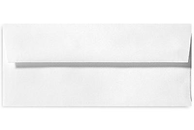 LUX #10 Square Flap Envelopes (4 1/8 x 9 1/2) 500/Box, Bright White - 100% Cotton (4860-SW-500)