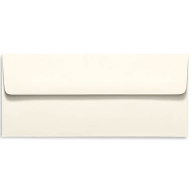 LUX Peel & Press #10 Square Flap Envelopes (4 1/8 x 9 1/2) 500/Box, Natural (4860-NPC-500)