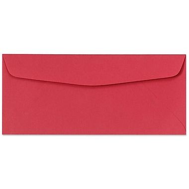 LUX Moistenable Glue #10 Regular Envelopes (4 1/8 x 9 1/2) 500/Box, Holiday Red (4260-15-500)