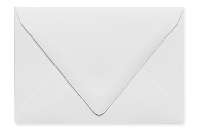 LUX A1 Contour Flap Envelopes (3 5/8 x 5 1/8) 1000/Box, White - 100% Recycled (1865-WPC-1000)