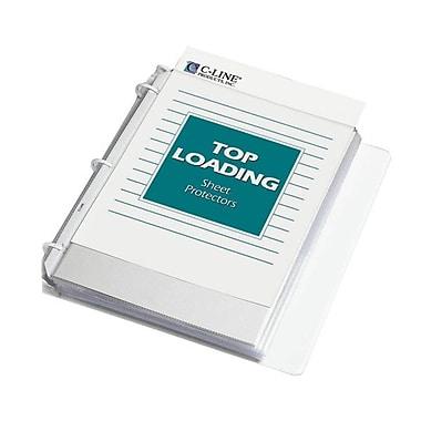 C-LineMD – Protège-documents durables en polypropylène à chargement par le haut, transparents, 200 par paquet