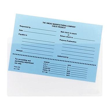 SmeadMD – Pochettes en coin autoadhésives 9 po x 5,56 po, transparentes, 100 par paquet