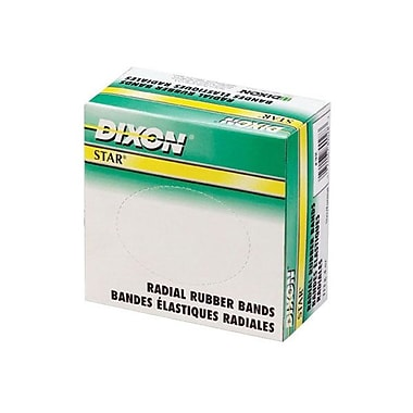 Dixon® Star Radial Rubber Bands, Size #107, 5-lb. Box