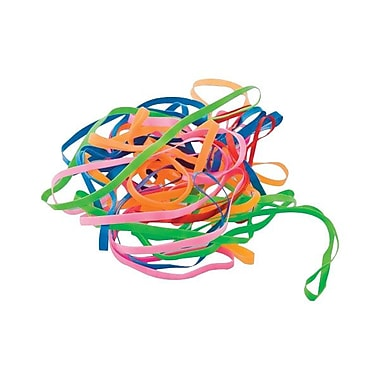 Bandes élastiques sans latex 4 1/4 po de BaumgartensMD, couleurs variées, paq./100