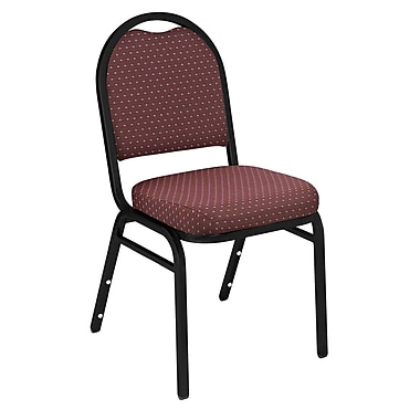 National Public Seating 9200 Series Steel Frame Fabric Padded Dome Stack Chair, Diamond Burgundy 20/Pack (9268-BT-NB/20)