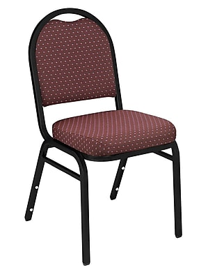 National Public Seating 9200 Series Steel Frame Fabric Padded Dome Stack Chair, Diamond Burgundy 40/Pack (9268-BT-NB/40)