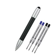 Monteverde® M-1 Stylus Ballpoint Pen W/2 Black and 2 Blue Refills, Black